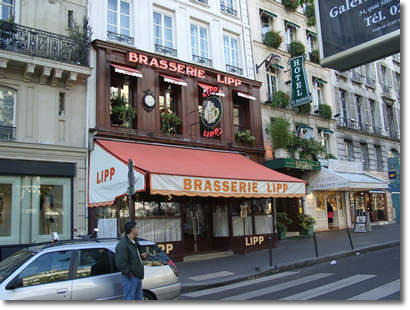 La brasserie Lipp, 151 bd Saint-Germain à Paris.